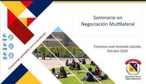 Seminario en Negociación Multilateral